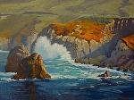 """Big Sur Cliffs - Garrapata State Park by Mark Farina  ~ 18"""" x 24"""""""
