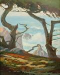"Dancing Cypress Trees- Pebble Beach by Mark Farina Oil ~ 30"" x 24"""