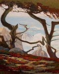 "Dancing Cypress Trees- Pebble Beach by Mark Farina Oil ~ 30"" x 24"""