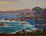 "Pacific Grove  - Coastal  View by Mark Farina Oil ~ 8"" x 10"""