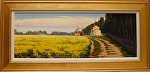 "Provence Spring - Fields of Mustard by Mark Farina Oil ~ 13"" x 35 3/4"""
