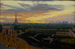 "Paris Dusk by Mark Farina  ~ 12"" x 17"""