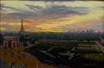 "Paris Dusk by Mark Farina  ~ 12"" x 17"""