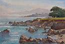 "Pacific Grove Coast by Mark Farina Watercolor ~ 15"" x 23"""