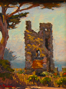 "Hawk Tower - Tor house by Mark Farina  ~ 10"" x 8"""