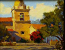 "Carmel Mission Bell Tower by Mark Farina  ~ 8"" x 10"""