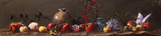 Heirloom Apples & Seashells - Oil