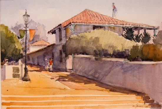 "Old Custom House by Mark Farina Watercolor ~ 10"" x 14"""