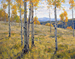 Scattered Aspens by Keith Bond Oil ~ 28 x 36