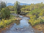 Illinois River (Colorado) by Keith Bond Oil ~ 6 x 8