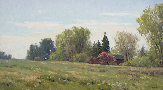 Crabapples in Bloom - Oil