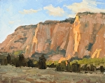 Approaching Kolob Terraces by Keith Bond Oil ~ 8 x 10
