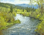 Spring on the Colorado River by Keith Bond Oil ~ 8 x 10