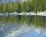 Bear Lake Reflections by Keith Bond Oil ~ 8 x 10