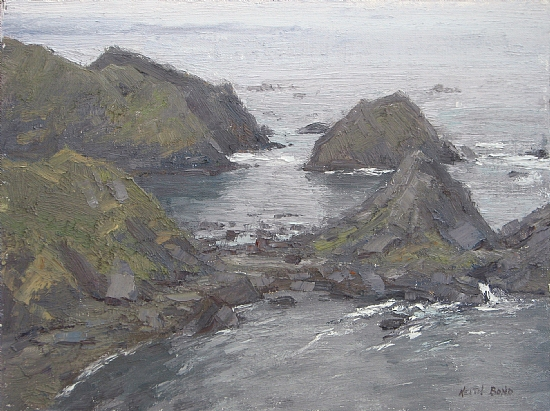 Coastal Rocks by Keith Bond Oil ~ 9 x 12