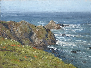 Northern Coast by Keith Bond Oil ~ 9 x 12