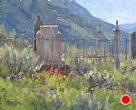 Crested Butte Cemetery by Keith Bond Oil ~ 8 x 10
