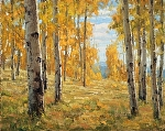 Autumn Among the Aspen Grove by Keith Bond Oil ~ 16 x 20