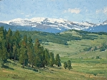 Mountain Meadows by Keith Bond Oil ~ 9 x 12