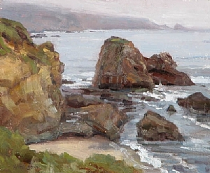 Molera Point by Keith Bond Oil ~ 10 x 12