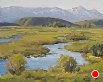 Spring Creek - Late Afternoon by Keith Bond Oil ~ 8 x 10