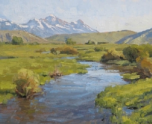 Spring Creek Morning Study by Keith Bond Oil ~ 10 x 12