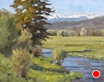 Mid Morning on Spring Creek by Keith Bond Oil ~ 10 x 12