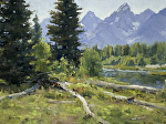 Schwabacher Landing by Keith Bond Oil ~ 12 x 16