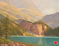 Majestic Morning, Lake O'Hara by Debra Joy Groesser Oil ~ 24 x 30