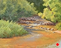 Morning Light, Bear Creek by Debra Joy Groesser Oil ~ 11 x 14