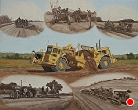 Evolution of Earth Moving Equipment by Debra Joy Groesser Oil ~ 24 x 30