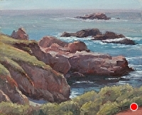 Cliff Shadows by Debra Joy Groesser Oil ~ 8 x 10
