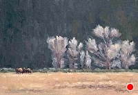 Afternoon Grazing by Debra Joy Groesser Oil ~ 5 x 7