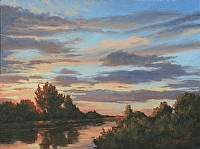 Day's End by Debra Joy Groesser Oil ~ 12 x 16