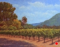 Carmel Valley Vineyard by Debra Joy Groesser Oil ~ 11 x 14