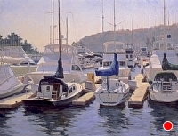 Harbor Afternoon by Debra Joy Groesser Oil ~ 24 x 30