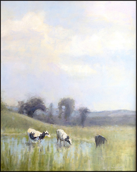 �Jenny always liked to gaze over the hills of Mason county� - Oil