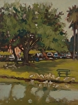 "North Port Library by Susan Covert Oil ~ 16"" x 12"""