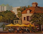 "Sarasota Cafe by Susan Covert Oil ~ 8"" x 10"""