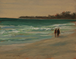 Beach Walk by Susan Covert Oil ~ 10 x 8