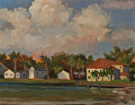 Causeway Cottages by Susan Covert Oil ~ 8 x 10