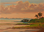 Evening Sarasota Bay by Susan Covert Oil ~ 9 x 12