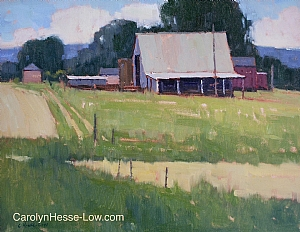 Pasture by Carolyn Hesse-Low Oil ~ 11 x 14