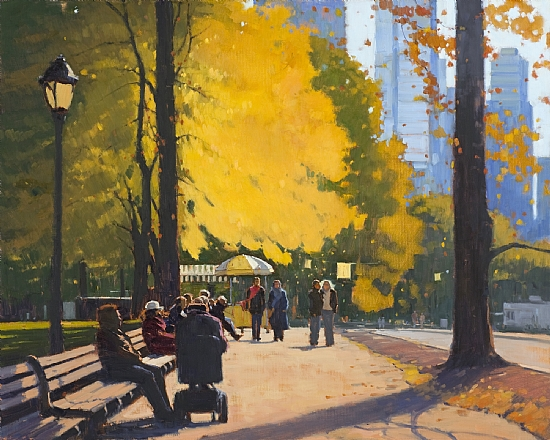 Afternoon in Central Park - Oil