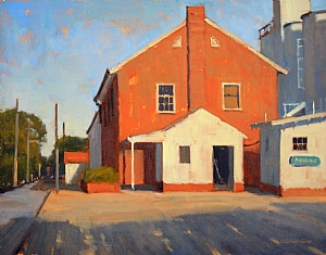 The Grain Yard by Carolyn Hesse-Low Oil ~ 11 x 14