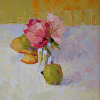Peonies with Yellow Chair