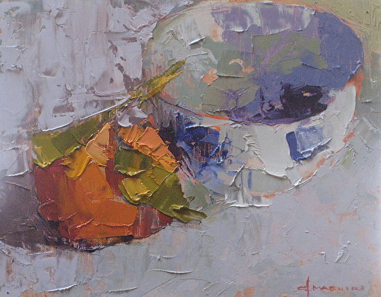 Mandarin & Bowl - Oil