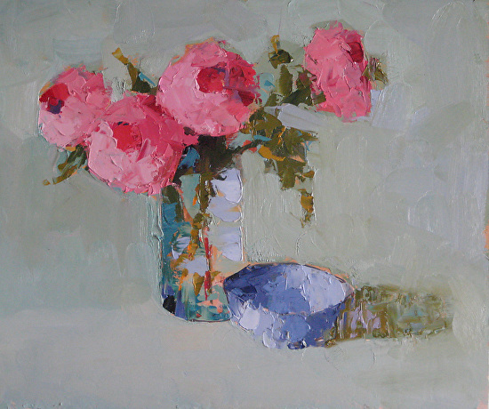 Peonies & Bowl - Oil