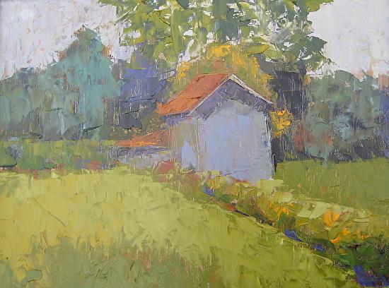 Blue Cottage - Oil