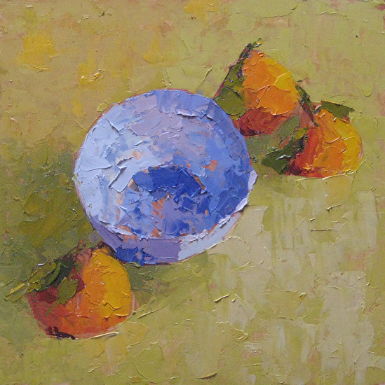 Mandarins from Above - Oil